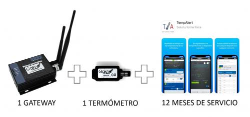 1 sensor con 12 Meses de monitoreo, uso del portal, usuarios y reportes ilimitados