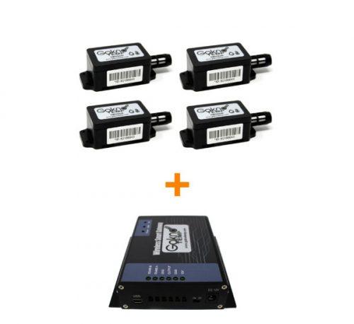 4 sensores con 12 Meses de monitoreo, uso del portal, usuarios y reportes ilimitados